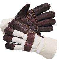 Перчатки тканевые с кожанными накладками (утепленные)