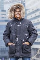 Куртка Аляска Премиум удлиненная черный