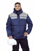 Куртка Эребус синий/серый