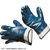 Перчатки нитриловые (манжет-крага, полное покрытие)