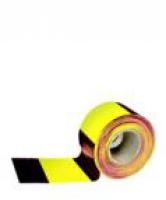 Лента оградительная ш.75 мм (желто-черная) 1 рул.-250 м