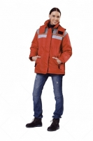 Куртка Эребус красный/серый (женская)