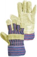 Перчатки тканевые со спилковыми накладками