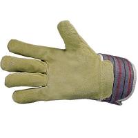Перчатки тканевые со спилковыми накладками (утепленные)
