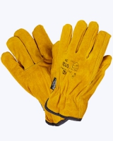Перчатки спилковые утепленные