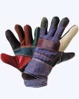 """Перчатки """"РАДУГА"""" кожаные, комбинированные, утепленные"""