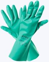 Перчатки нитриловые КЩС+МБС с хлопковым напылением