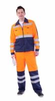 """Костюм """"МАГИСТРАЛЬ-ЛЮКС"""" : куртка, брюки оранжевый с синим и СОП"""